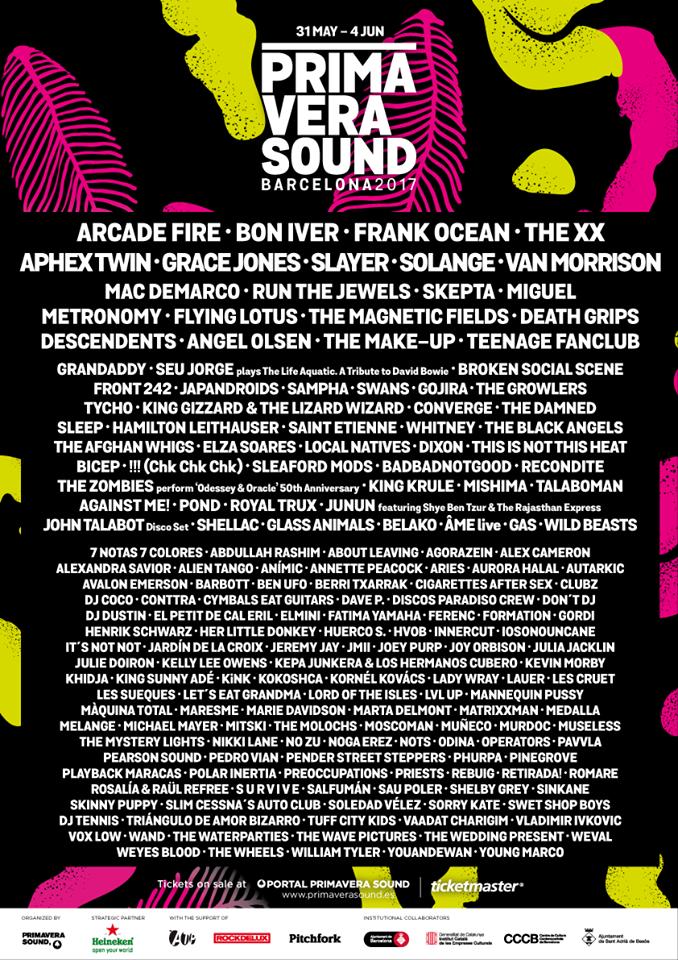 primavera sound 2017-1 line up