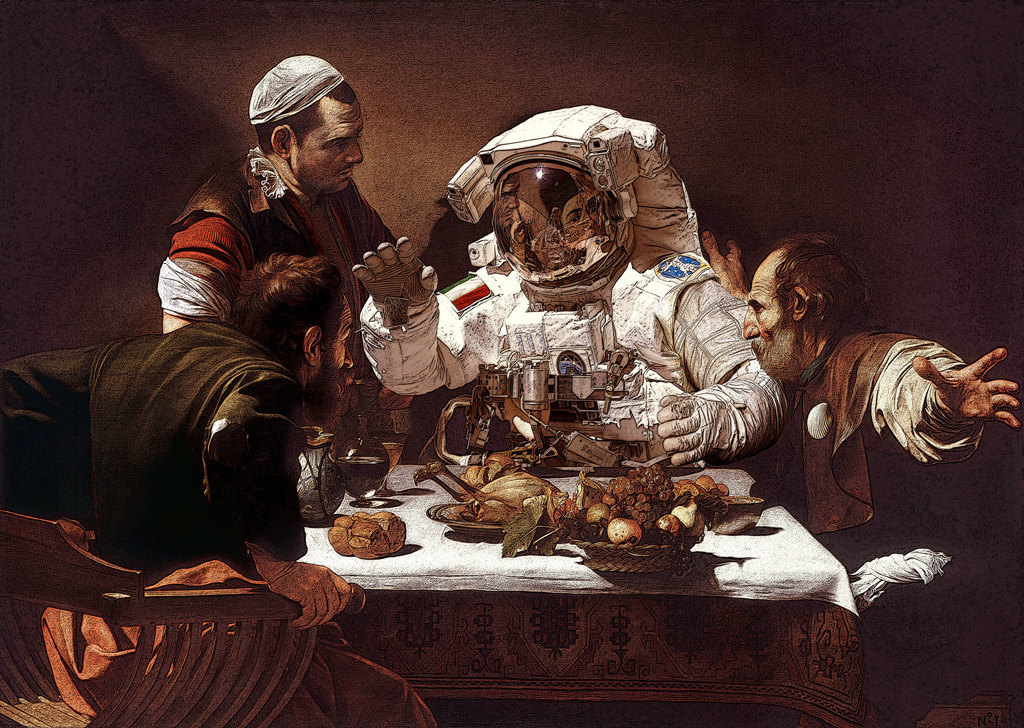 supper at emmaus tomcolbieart